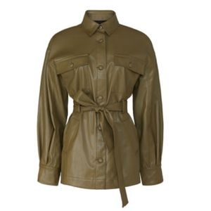 LOVE, WHIT - Olive Faux Leather Jacket (13)